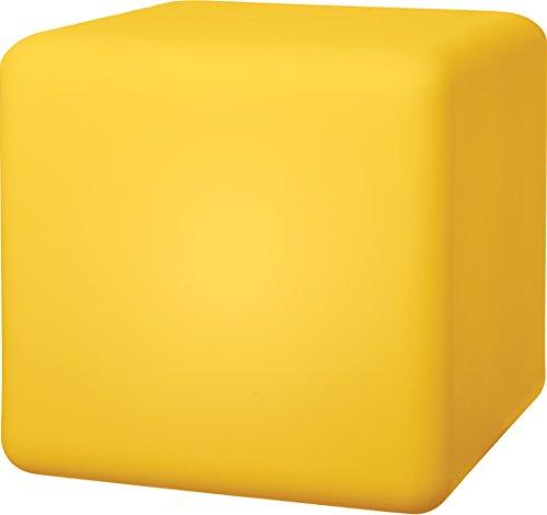 Telefunken Solar Cube 30 Gartenleuchte, Würfel 30 cm, sanfter Farbwechsel, sehr hell mit 1,2W, austauschbare Akkus, hohe Ladeleistung von 1,5W, wasserdicht, als Beistelltisch verwendbar