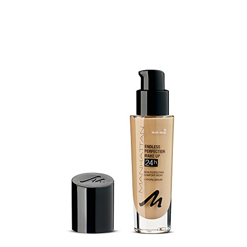 Manhattan Endless Perfection Make-up, Langanhaltende flüssig Foundation mit hoher Deckkraft, Farbe Natural Bronze 68 (1 x 30ml)