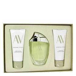 av-by-adrienne-vittadini-gift-set-3-oz-eau-de-parfum-spray-33-body-lotion-33-oz-shower-gel-women-by-
