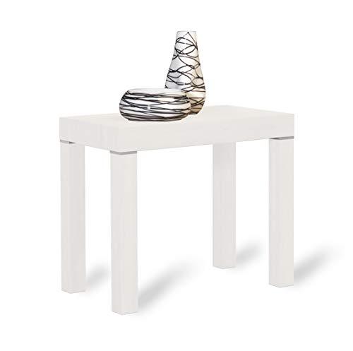Arredinitaly - tavolo consolle allungabile da 90x50 a 90x300 cm.(12 comodi posti). (bianco frassinato)