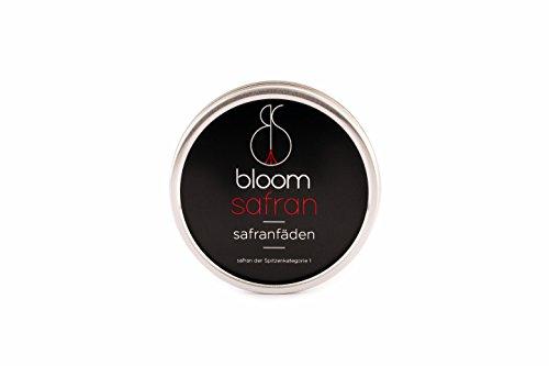 bloom safran - 1 Gramm Safranfäden der Spitzenkategorie - 1g Premium Qualität