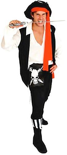 ostüm Verkleidung Karneval und Halloween von Pirat Korsar von dem Meere Karibik Farbe Schwarz Erwachsene Mann Junge (Meer Kostüme Ideen)