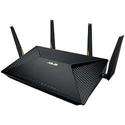 Asus Brt-ac828 Routeur Wi-fi Professionnel Ac 2600 Mbps Mu-mimo Jusqu'à 250 Appareils Connectés Dual-wan 2g avec Support Vpn et Sécurité Aiprotection à Vie et Filtrage Des Contenus Trendmicro