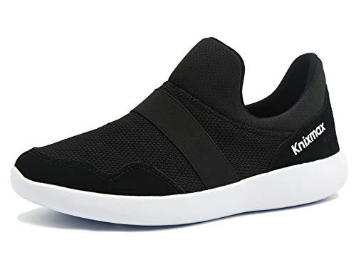 knixamx Scarpe da Ginnastica Donna Sportive Scarpe da Corsa Slip On Lightweight Running Palestra Sneakers Black-4