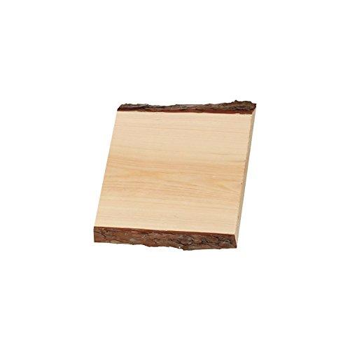 Rindenbrett in natur, Holztbrett, Baumscheibe, Servierbrett verschiedene Größen, Brettgröße:20 x 14-19 x 2 cm - 2