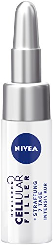 NIVEA Hyaluron CELLular Filler + Straffung 7 Tage Intensiv Kur im 3er Pack (3 x 5 ml), pflegende Anti Aging Kur, intensive Anti Falten Creme mit Hyaluron