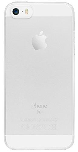 mumbi TPU Silikon Schutzhülle für iPhone SE 5S 5 Hülle in schwarz klar