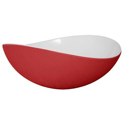 Mebel Entity 18 Eisschüssel Größe S, Schüssel, Schale, Geschirr aus Melamin, rot/weiß (Große Schüssel Melamin)