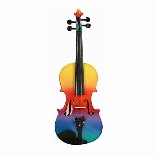 Violini Strumenti a Corda 4/4 Violoncello Arcobaleno Legno massello Acero Abete Rosso Ebano Regali meravigliosi Super Suoni (Color : 4/4)