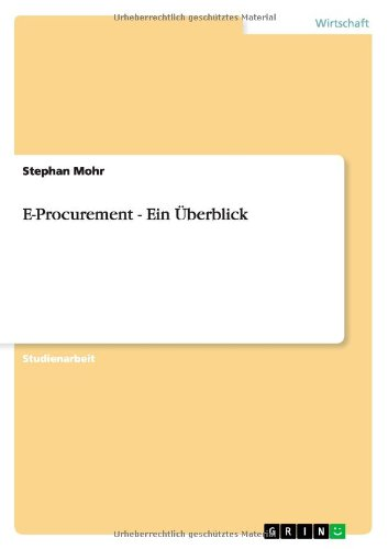 E-Procurement - Ein Überblick
