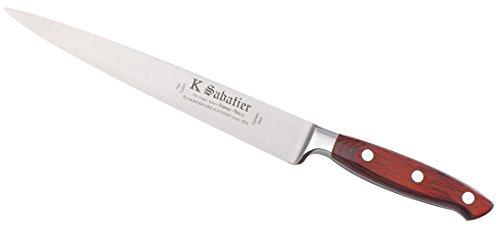 K Sabatier - Filet De Sole 20 Cm K Sabatier -Gamme Elegance - Acier Inoxydable - Manche Bois - 100% Forge - Entièrement Fabrique En France