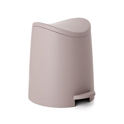 TATAY Standard Pattumiera da Bagno Plastica e Polipropilene Moderno 19x22.1x0.41 Taupé