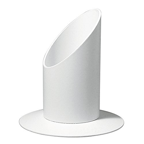 Rayher Kerzenhalter aus Metall, ideal für Stabkerzen, Stumpenkerzen, Tafelkerzen Taufkerzen und Kommunionkerzen - Kerzenständer, Kerzenleuchter, Leuchter, ø 30 mm, weiß matt