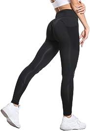 Women Leggings Sports Yoga Pants Soft High Stretch with Pocket Tummy Control 4 Way Stretch Workout Gym Clothin