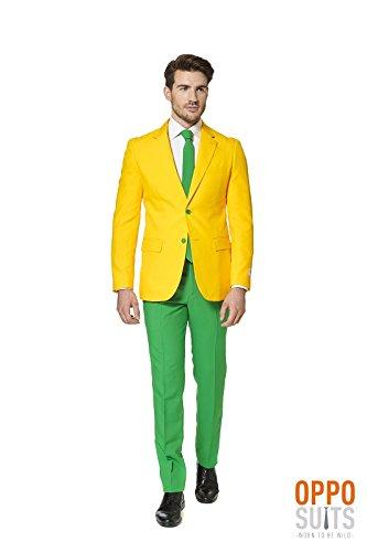 Opposuit Green and Gold für Herren XL (Körper Kostüme Comic Anzug)