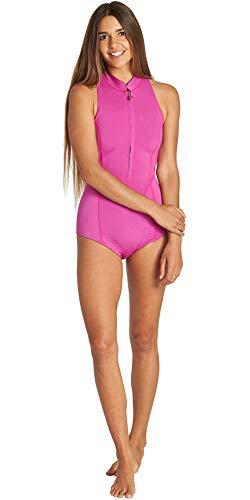 BILLABONG Womens Salty DayZ 1mm Front Zip Sleeveless Shorty Wetsuit Orchid Haze Q41G08 Womens Size - 8 Sleeveless Front Zip