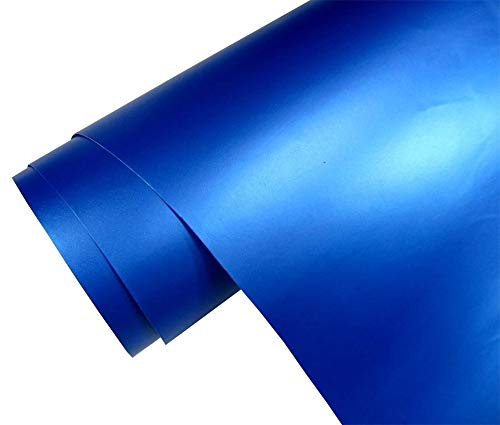 4€/m² Auto Folie matt - blau metallic matt 100 x 150 cm blasenfrei Car Wrapping Klebefolie Dekor Folie - Metallic Matt