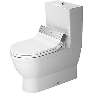 Duravit Stand-WC Kombi (ohne Deckel), ohne Spülkasten Starck 3 705 mm, für SensoWash mit verdeckten Anschlüßen, weiss, 2141590000