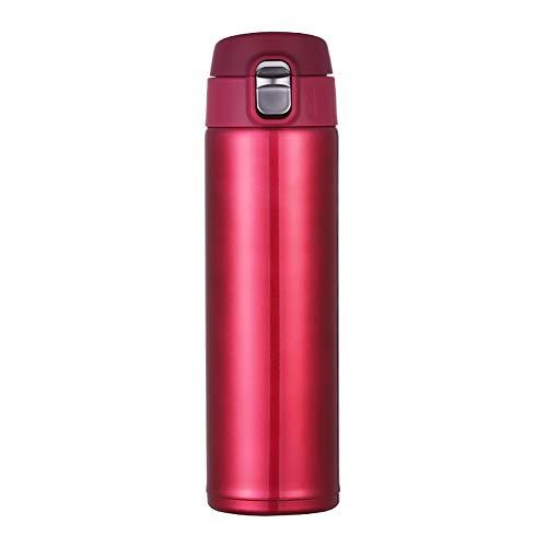HshDUti 500 ml Edelstahl Isolationsvakuumbecher Kolben Kaffee Tee Wasserflasche Geschenk Red - Melamin Kaffee Red Becher