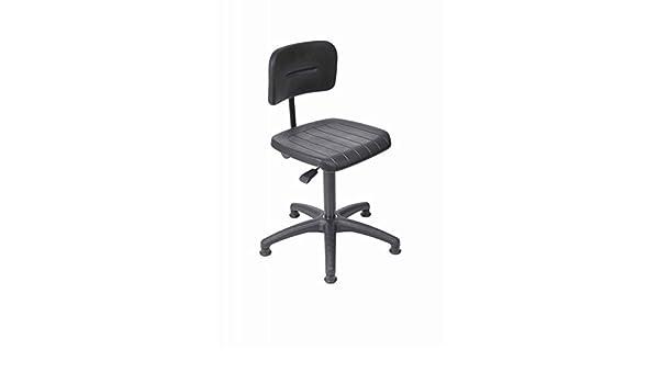 Sitz PU schwarz mit Rollen Arbeitsstuhl Modell 6162 von Lotz