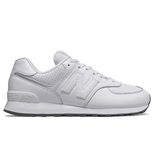 New Balance Herren 574v2 Sneaker, Weiß White, 43 EU (Herren New Balance Schuhe Weiß)