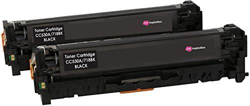 2 INK INSPIRATION® Schwarz Premium Toner für HP Laserjet CP2020 CP2025 CM2320 Canon MF8350Cdn MF8380Cdw MF8330Cdn LBP7200Cdn | kompatibel zu HP CC530A & Canon CRG-718 | 3.500 Seiten -