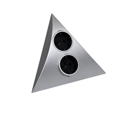 Hera 50660217018 Steckdosen-Einheit Luxor 2 ST D, Chrom-Seidenmatt -