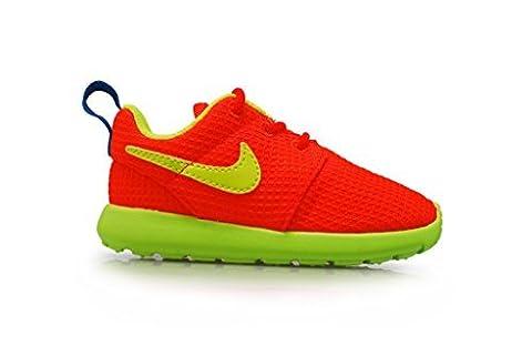 Nike NIKE ROSHERUN (PS/TD), Basses mixte enfant - Orange - Hyper Crimson Volt Photo Blue, 31 EU