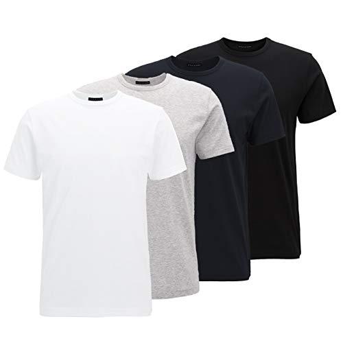 Style & Sons Basic Round Neck T-Shirt (4-Pack) (Basics, M)