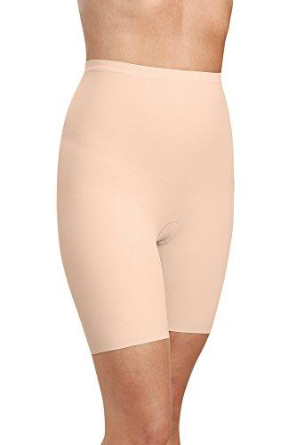 Kasheer Damen Miederhose mit Bein ShapePants Figurformender Shapewear Bauch-Weg Effekt für Bauch, Hüfte, Oberschenkel und Po (44/46, Haut) -