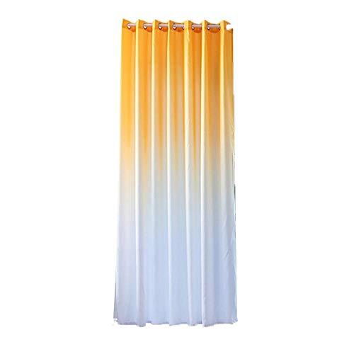 Cortinas de sala amarillas opacas (270x100 cm)