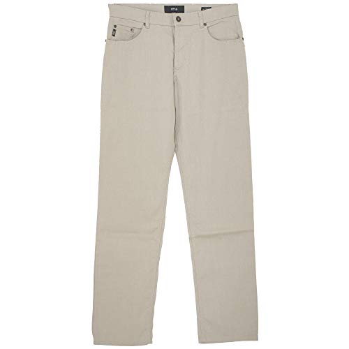 Brax, Cooper Fancy, Herren Herren Jeans Hose Popeline Stretch Sandbeige Meliert W 36 L 36 [21068] -
