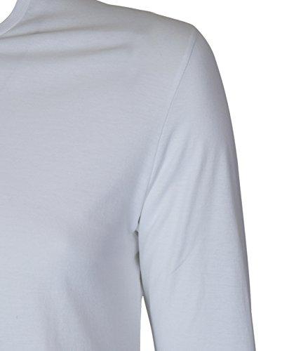 ... American Vintage Herren Langarm-Shirt Mden in Weiss Blanc