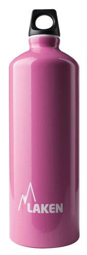 Bottiglia d'acqua Laken Futura bocca stretta tappo a vite con anello e moschettone - 1 Litro, Rosa