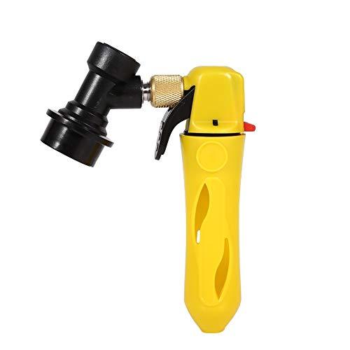 Fass Ladegerät Injektor Cornelius Corny Fassmit Ball Lock Fassbierspender Bier Wein Soda Ladegerät für Homebrew Ventil(gelb)