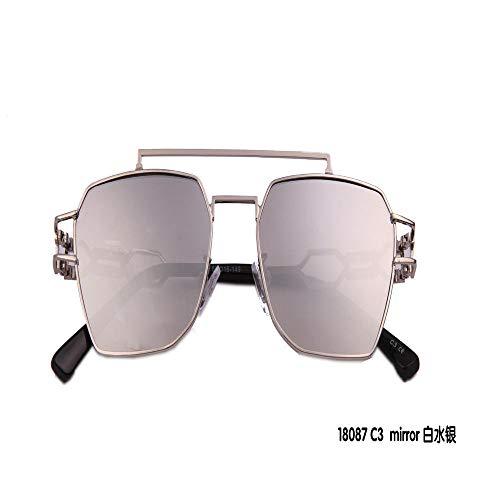 MJ Glasses Sonnenbrillen Persönlichkeit Europäische und amerikanische Persönlichkeitskiste Männer und Frauen, A