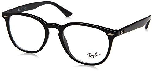 Ray-ban 0rx 7159 2000 52 montature, nero (black), unisex-adulto