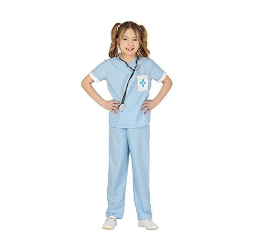 Generique - Tierarzt Kinderkostüm für Mädchen Berufe blau-Weiss 140/146 (10-12 - Tierarzt Kostüm Kinder