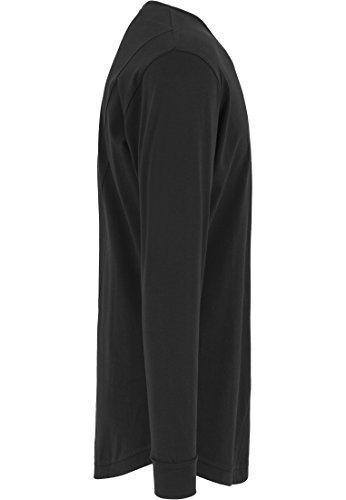 Urban Classics TB1101 Herren Langarmshirt Shaped Fashion Long Sleeve Tee Schwarz