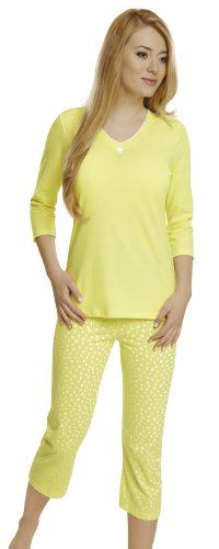 Italian Fashion IF Ensemble de Pyjama Femme Dorothy 0222 Jaune