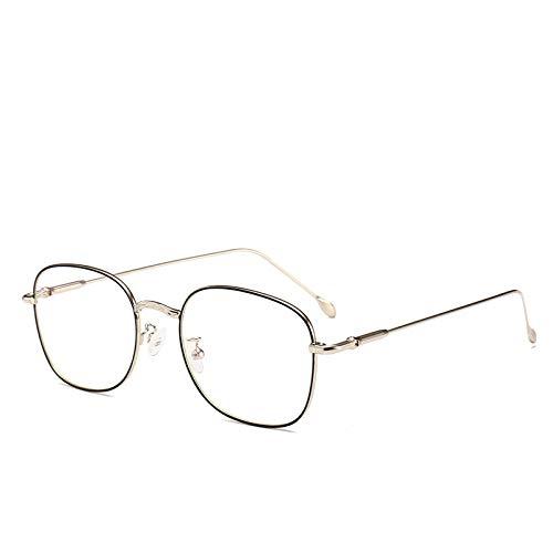 Yangjing-hl Trend dekorative Spiegel können mit Linse Metallrahmen Auge Retro-Flachspiegel schwarz Silber Rahmen ausgestattet Werden