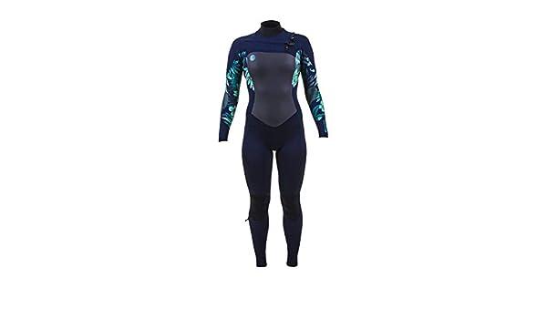 Easy Stretch-Thermofutter 3MM Back Zip GBS-Neoprenanzug Schwarzes Seaglass O;Neill Womens Epic 4 Thermische W/ärmeschichtschichten