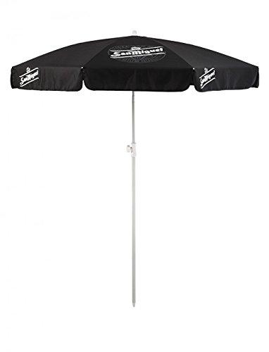 San Miguel 1,8m ombrellone rotondo (Nero con Bianco Polo)