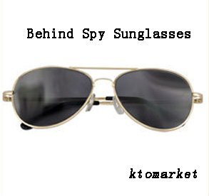 Rear Mirror View Rearview Behind Spy Sunglasses Monitor