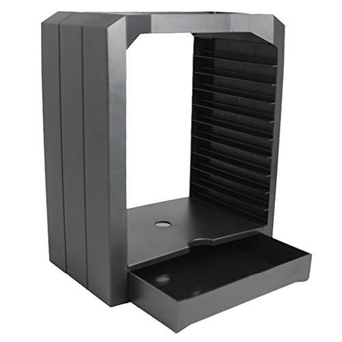 heacker Ersatz für Playstation 4 PS4 Schlanke Pro Xbox ONE Xbox 360 Universal Game Speicher-Präsentationsturm 10 CD-Spiele-Halter -
