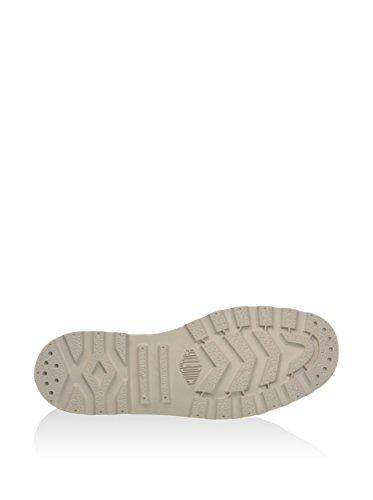 Palladium - Boots, booty ou bottillons toile estampillés pour femme, avec lacets et bout en caoutchouc Blanc
