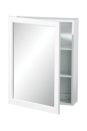 #Premier Housewares Hängeschrank, einfache Spiegeltür, 66 x 51 x 16 cm, weiß#