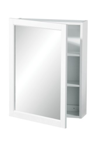 Premier housewares 2402059 pensile con porta singola specchiata, 66x51x16 cm, bianco