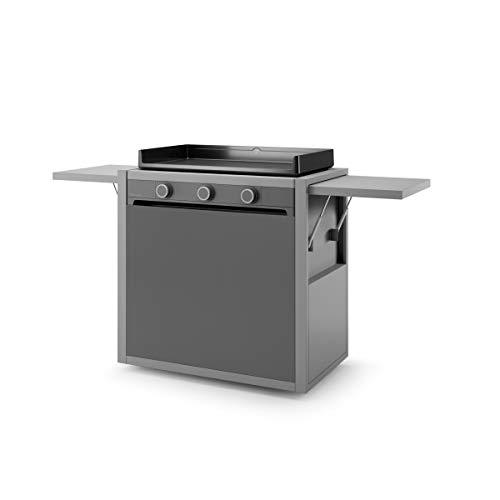 Forge Adour - chmaf75 - Chariot pour plancha Gris