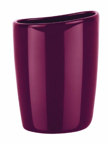 Spirella - Portaspazzolino in gres, colore: bordeaux